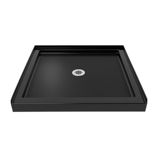 DreamLine SlimLine 32 in. by 32 in. Single Threshold Shower Base in Black Finish