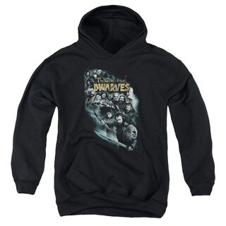 The Hobbit/Company Of Dwarves Youth Pullover Hoodie in Black
