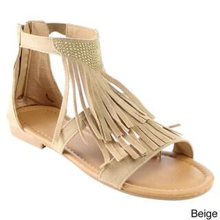 Beston Gb74 Tassels Fringe Sandals