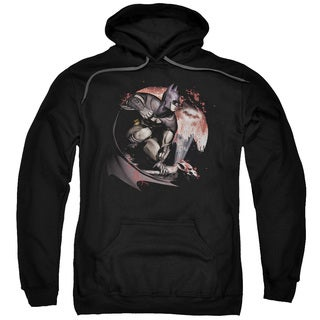 Arkham City Adults' Blood Moon Black Pull-over Hoodie