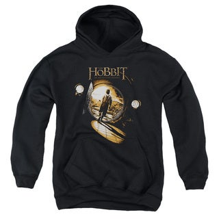 The Hobbit/Hobbit Hole Youth Pull-Over Hoodie in Black
