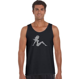Men's 'Mudflap Girl' Solid-colored Cotton Tank Top