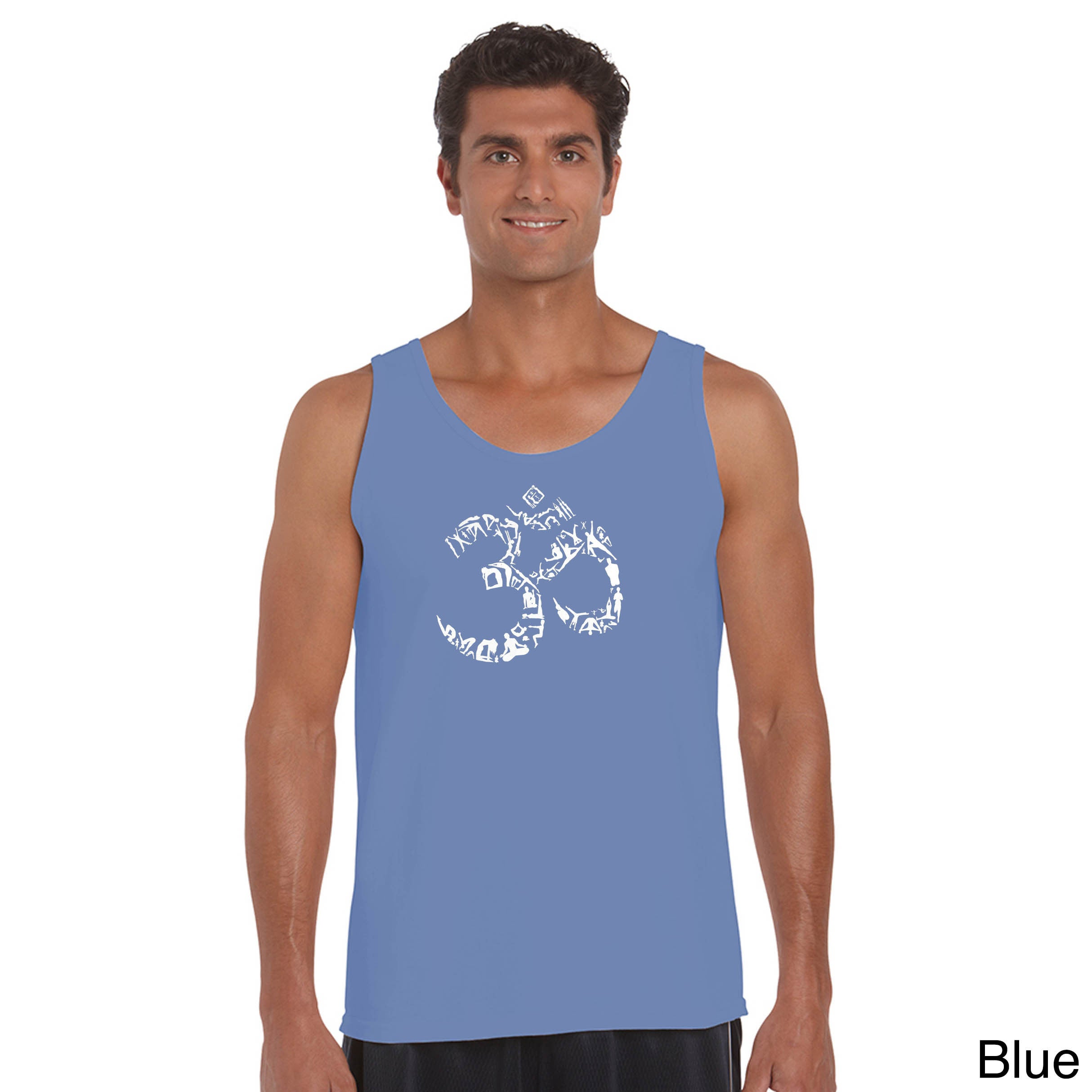 Los Angeles Pop Art Men's The Om Symbol Out Of Yoga Poses...
