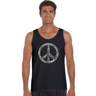 Men's 'The Word Peace In 77 Languages' Tank Top