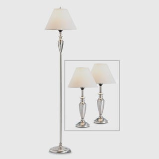Fillmore Silver 1-light Classic Lamps (Set of 3)