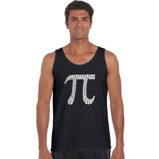 Men's 'First 100 Digits of Pi' Solid-colored Cotton Tank Top.