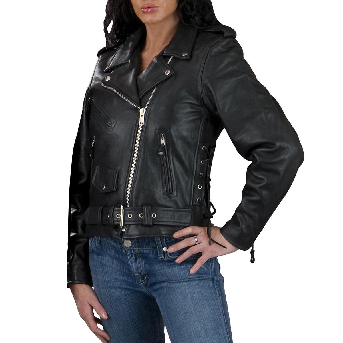 Apparel & Merchandise Men's Clothing Men Genuine Black Leather Motorcycle Jacket Size 6 Xl Jade White