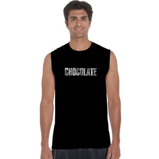 Men's Cotton Sleeveless Chocolate Foods T-shir