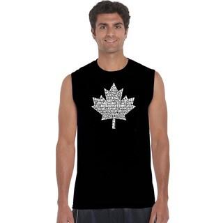 LA Pop Art Men's Canadian National Anthem Sleeveless T-shirt