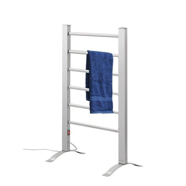 Elegance Towel Warmers: Pursonic TW300 Silver Chrome / Aluminum 6-bar Towel Warmer