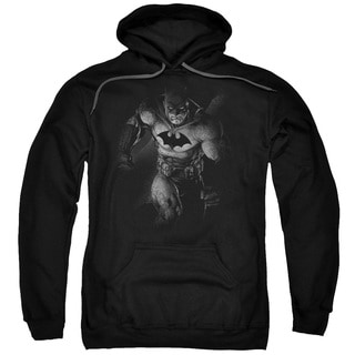 Batman Materialized Adult Black Cotton/Polyester Pullover Hoodie
