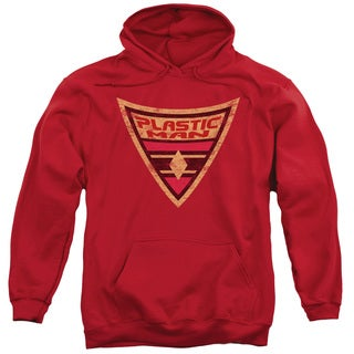 Batman/Plastic Man Shield Red Adult Pull-over Hoodie