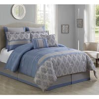 Maya Embroidered 8-piece Comforter Set