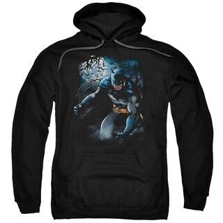 Batman/Light Of the Moon Adult Black Pullover Hoodie