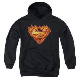 Youth Superman/Hot Metal Black Pullover Hoodie