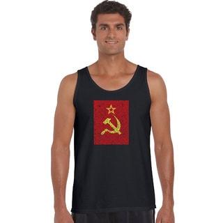Men's Lyrics to the Soviet National Anthem Tank Top