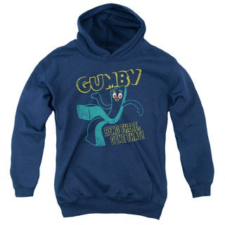 Gumby/Bend There Youth Navy Pull-over Hoodie