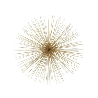 Classy Metal Gold Wire Wall Decor