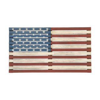 Copper Grove Kitty Patriotic Wood Flag Wall Decor