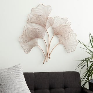 Link to Natural 34 x 35 Inch Iron Wire Fan Leaves Wall Decor by Studio 350 Similar Items in Wall Sculptures