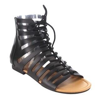 Beston Gc34 Women's Strappy Flat Gladiator Sandals