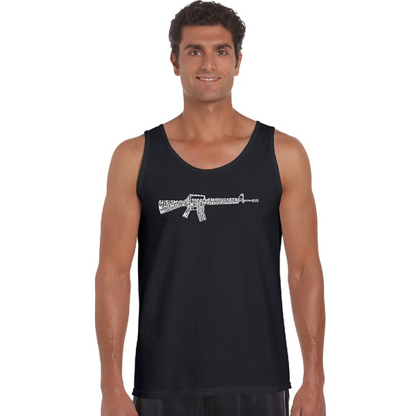 Men's 'The Rifleman's Creed' Solid-colored Cotton Tank Top