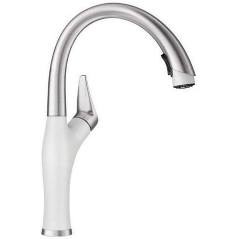 Blanco Artona Modern White and Silver Stainless Steel Faucet
