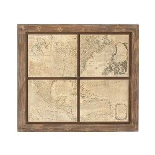 Trendy Wood Map Wall Decor