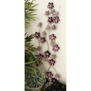 Alluring Flower Metal Wall Decor