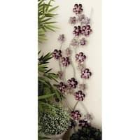 Alluring Flower Metal Wall Decor