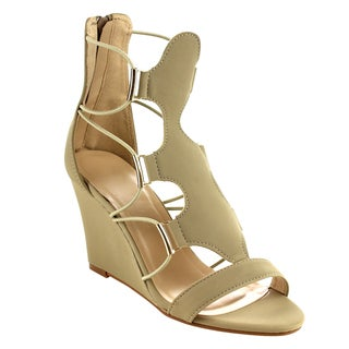 Beston Gb30 Women's Strappy Wedge Sandals