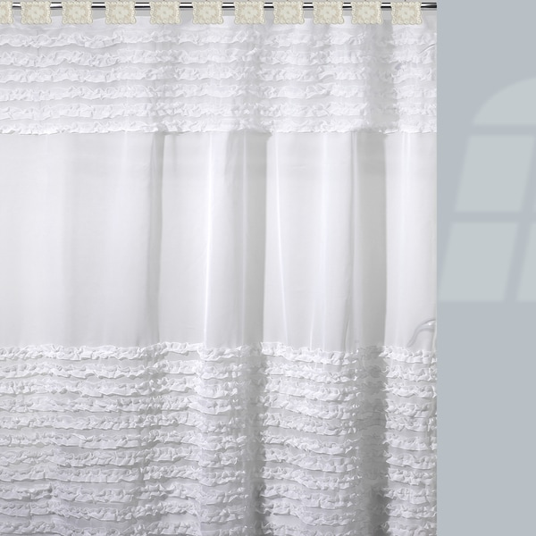 'Flowers and Frills' Shower Curtain and Hooks Set or Separates