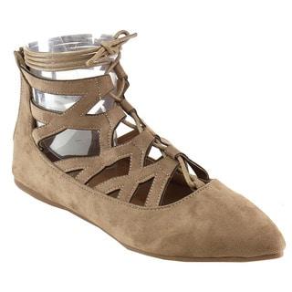 Bella Marie Women's Ankle Wrap Ballet Flats