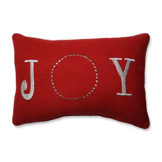 Pillow Perfect Glitzy Joy Red Rectangular Throw Pillow
