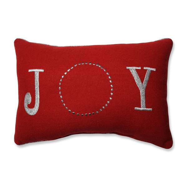 Pillow Perfect Glitzy Joy Red Rectangular Throw Pillow