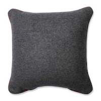 Pillow Perfect Merry Christmas Words Grey-Red 11.5-inch Throw Pillow