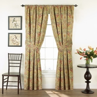 Waverly Swept Away Floral Cotton 84-inch Machine-washable Curtain Panel Set