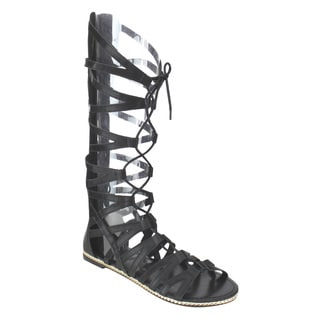 Beston Dc23 Front Lace Gladiator Sandals