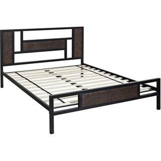 Hanover Hyde Park Black Metal Full-size Platform Bed
