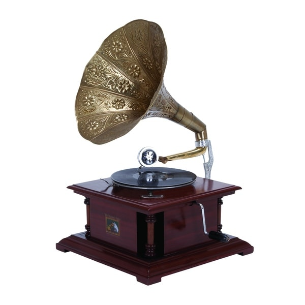 Shop Wood Metal Gramophone An Excellent Home Decor On