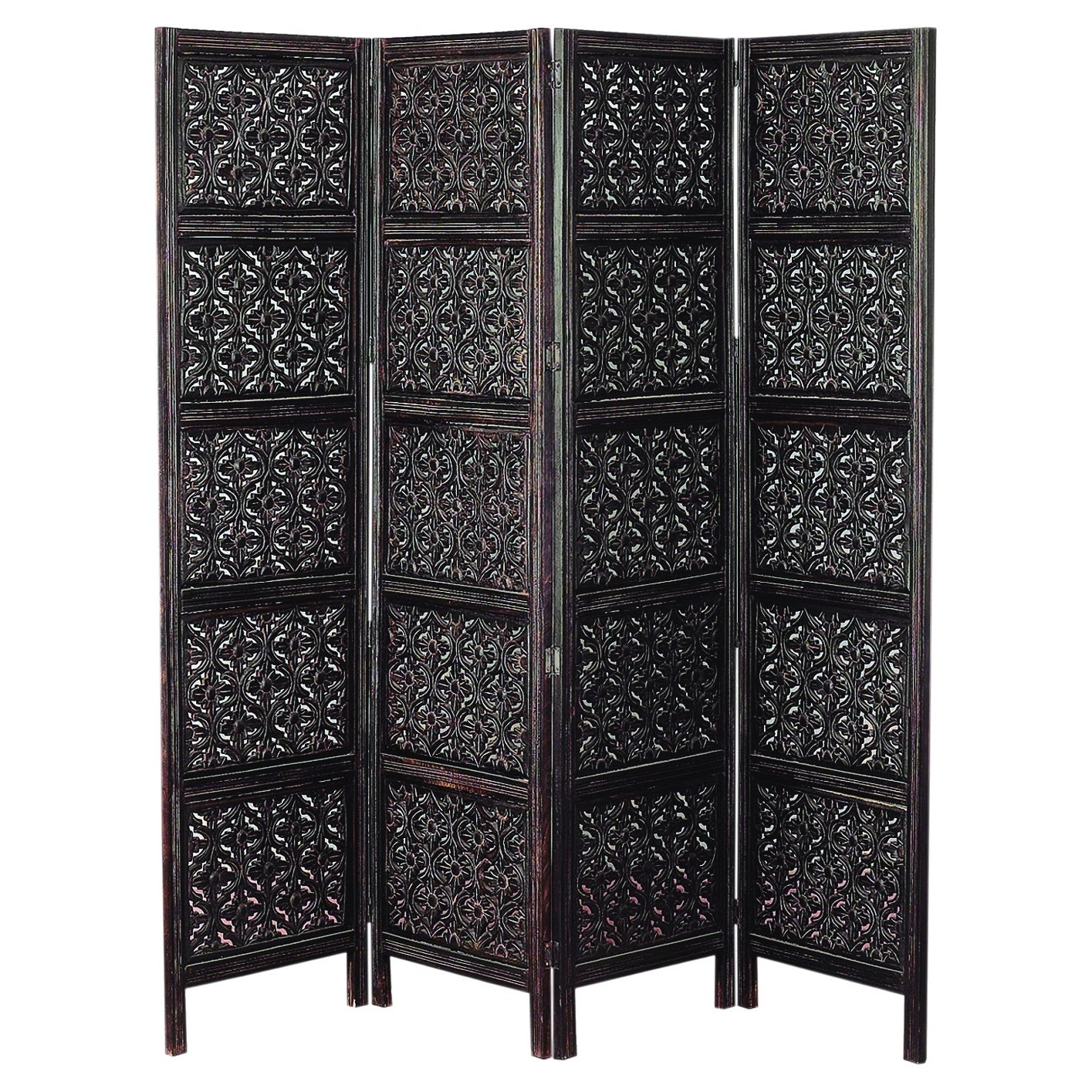 Studio 350 Wood 4 Panel Screen For Privacy And Decor Both...