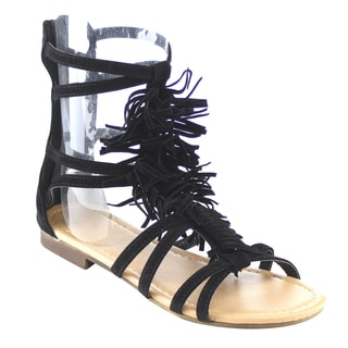 Beston Gb35 Fringed Gladiator Sandals