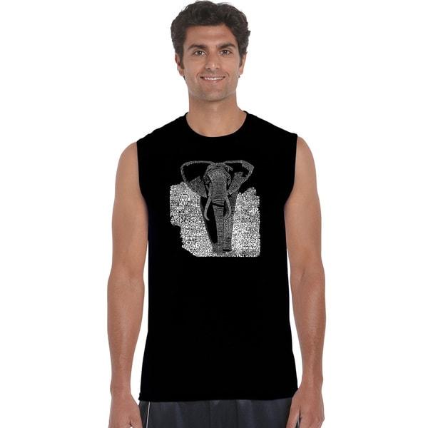 Mens Sleeveless Elephant T-shirt