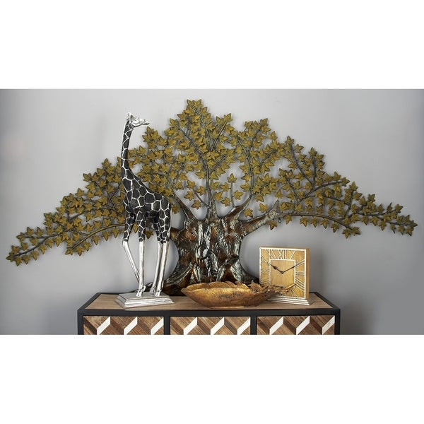 Traditional 41 x 93 Inch Iron Maple Tree Wall Decor by Studio 350