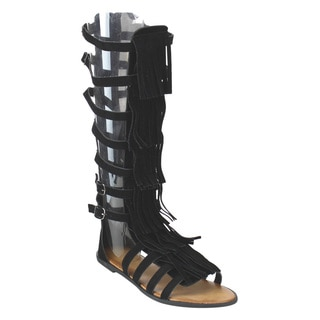 Beston Womens's Gladiator Knee High Sandals