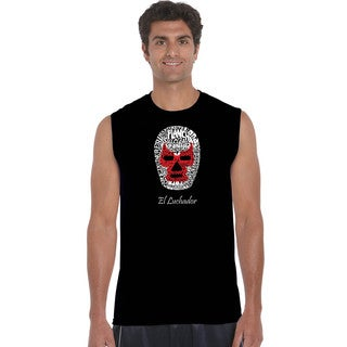 Men's Cotton Sleeveless Mexican Wrestling Mask T-shirt