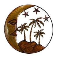 Havenside Home Buckroe Island Sun Stars and Palms Metal Wall Sculpture