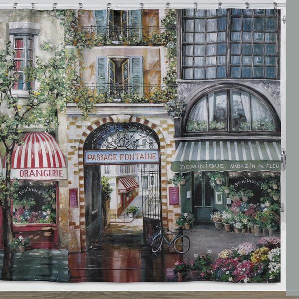 """Orangerie Paris Fabric Shower Curtain (72""""x72"""")"""