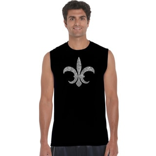 Men's Fleur De Lis Popular Louisiana Cities Sleeveless T-shirt
