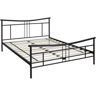 Hanover Chelsea Black Metal Full Platform Bed